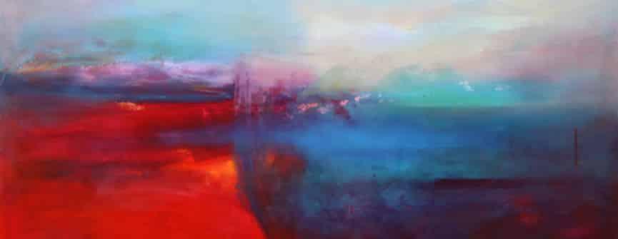 Janet Read, Hem of the Sea #7, oil on canvas