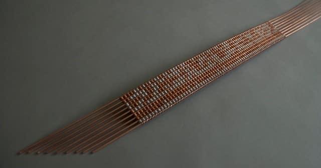 Michael Belmore, Bridge, 2014, copper and aluminum