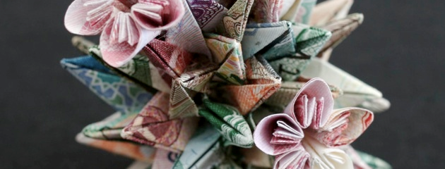 currency sculpture by Kristi Malakoff
