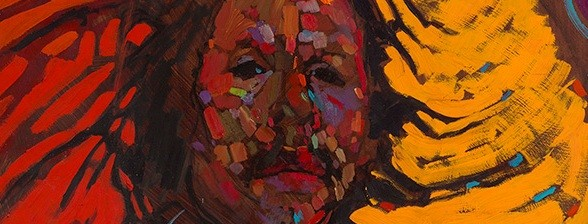 Detail of Arthur Shilling's Ojibway Dreams (Self-portrait))