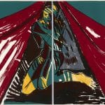 Sheila Butler, Figure in a Tent, 1984, lithograph on paper