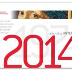 Cover, 40th Anniversary Calendar (2014)