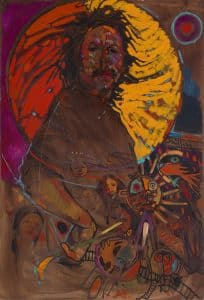 Arthur Shilling, Ojibway Dream (Self-Portrait 2), n.d., oil on board