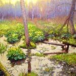 Steven Vero, Marigold Marsh, 2015, oil on canvas