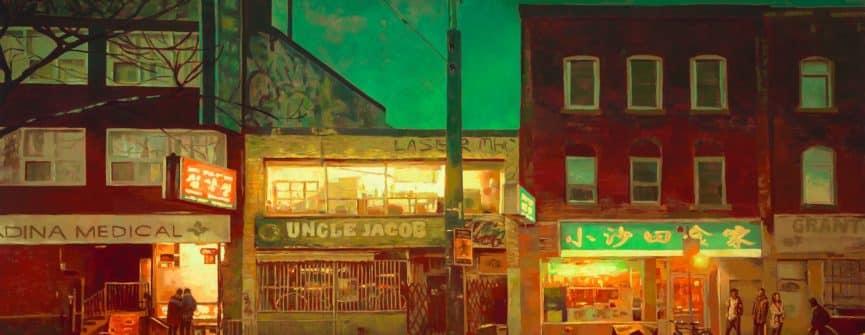 Keita Morimoto, Green Hour, 2018, oil on linen. Courtesy the artist & Nicholas Metivier Gallery.