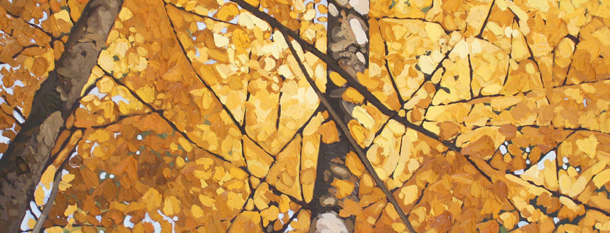 painting of autumn trees by Peter Rotter