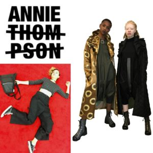logo and clothes by Annie Thompson, fashion designer