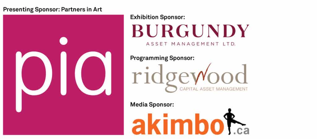 logos for Partners in Art, Akimbo, Burgundy Asset Management and Ridgewood Capital Asset Management