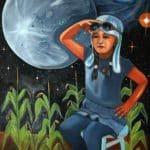 Shelley Niro, Raven's World, 2015, oil on canvas