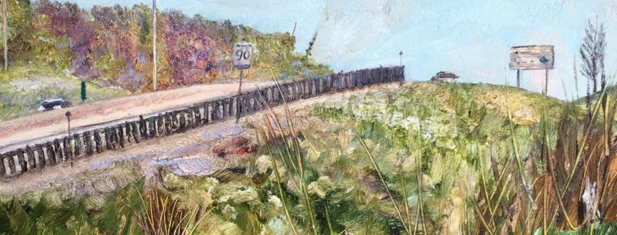 painting of highway 115 outside of peterborough