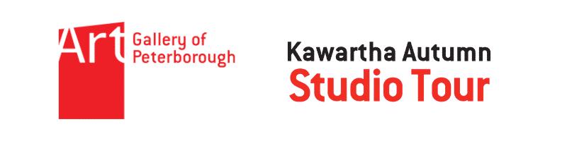Art Gallery of Peterborough logo, with Kawartha Autumn Studio Tour logo