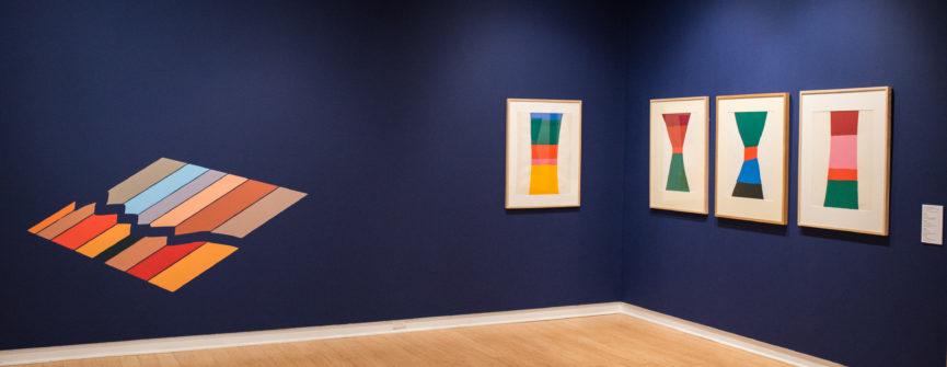 Installation View; Left: Francisco- Fernando Granados; Right: Jack Bush, Collection of the Robert McLaughlin Gallery