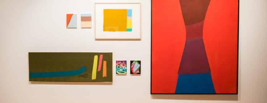 Gallery Wall, Installation View, Jack Bush + Francisco-Fernando Granados