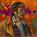 Arthur Shilling, My Brother, 1980, oil on canvas, courtesy of the Whetung Ojibway Center. Photo: Michael Cullen, TPG Digital Arts, Toronto