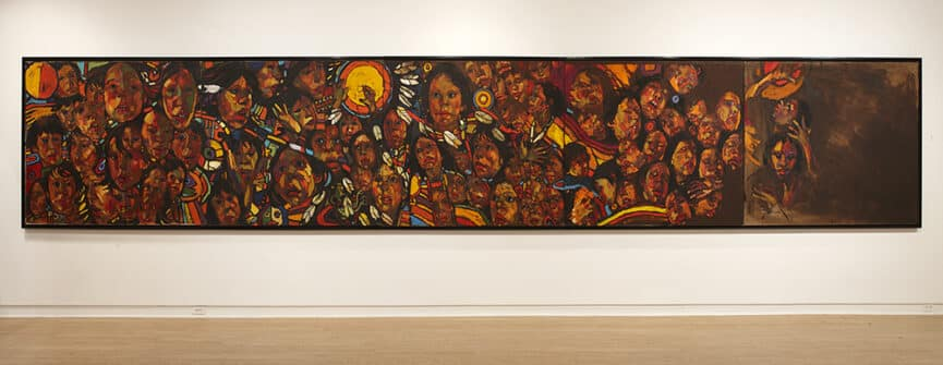 Arthur Shilling, The Beauty of Our People, 1985-86, oil on canvas and linen, Estate of Arthur Shilling. Photo: Michael Cullen, TPG Digital Arts, Toronto