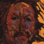 Detail: Arthur Shilling, Ojibway Dreams (Self Portrait 2), oil on canvas. Design by wedesign