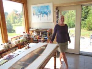 Anne Renouf in her studio
