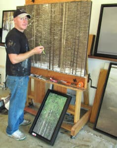 Peter Rotter in his studio