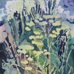 Laura Madera, Garden Air, 2020, archivally treated watercolour on panel, 16