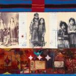 Jane Ash Poitras, Three Sisters, 1995, mixed media on canvas